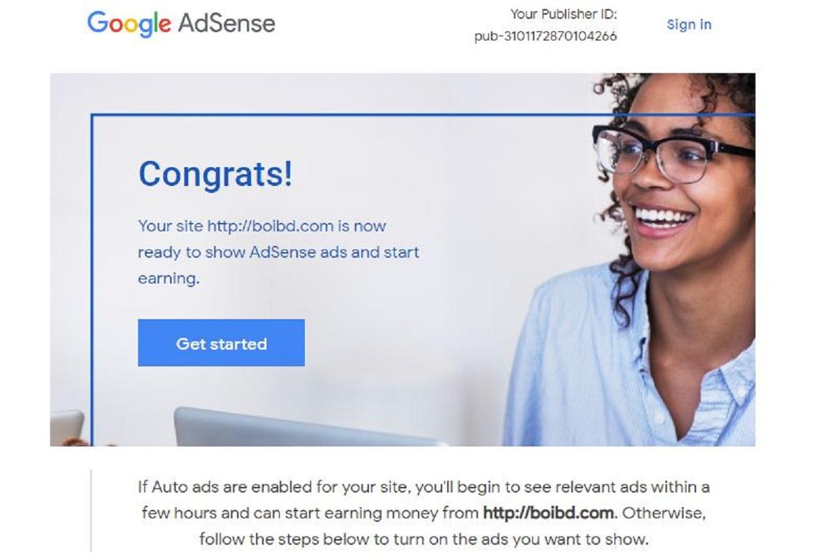Google AdSense এর জন্য অনুমতি পেলো boibd.com